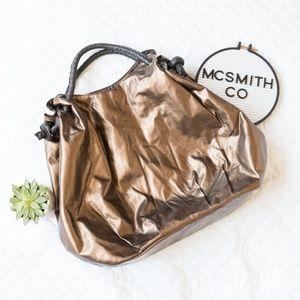 Nordstrom | Brown Metallic Oversize Hobo Bag